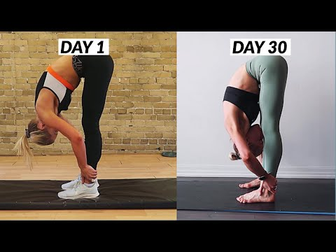 I Did an Olympic Gymnasts Stretching Routine for 30 days *Splits Results*