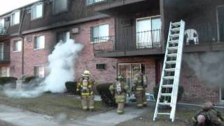 Multiple Rescues And A Firefighter Runs Out Of Oxygen At An Apartment Building Fire.