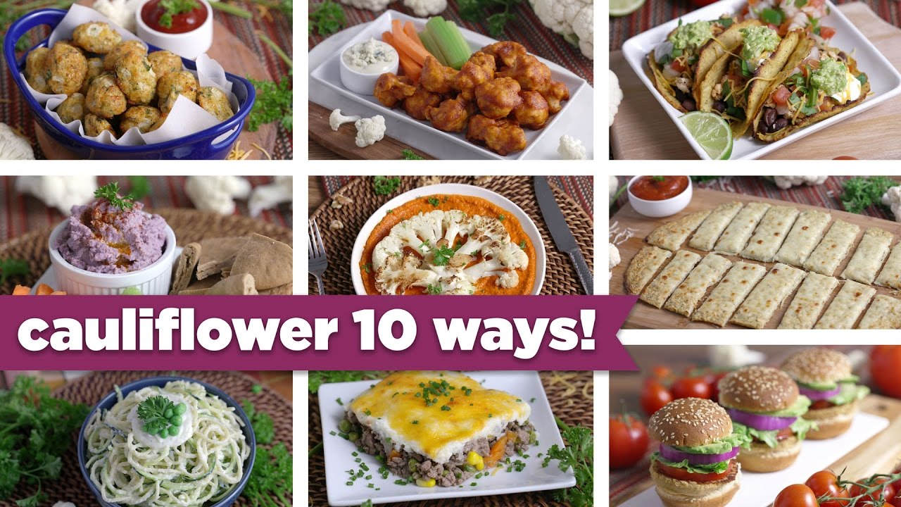 10 Crazy Ways to use Cauliflower created by Mind over Munch