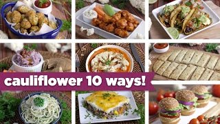 Cauliflower 10 Crazy Ways! Easy Healthy Recipes + FREE eBook! - Mind Over Munch