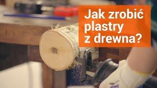 Jak zrobić plastry z drewna - podkładki na stół ogrodowy.
