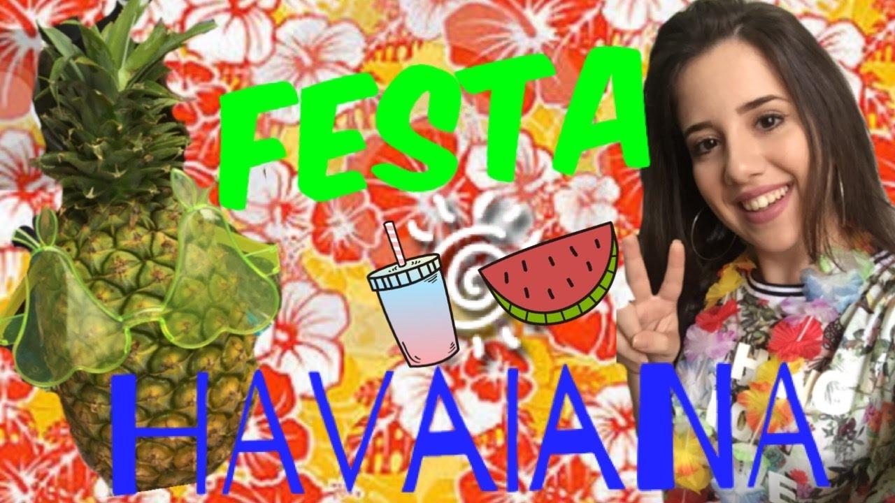 Gastando 50 Reais Decoração Para Festa Havaiana 18 Anos Youtube