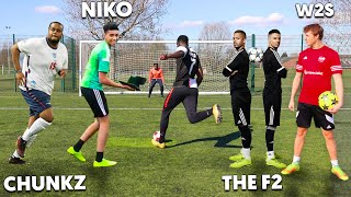 FAMOUS YouTubers Challenge Me To a Football Competition ft. W2S, F2Freestylers & Chunkz
