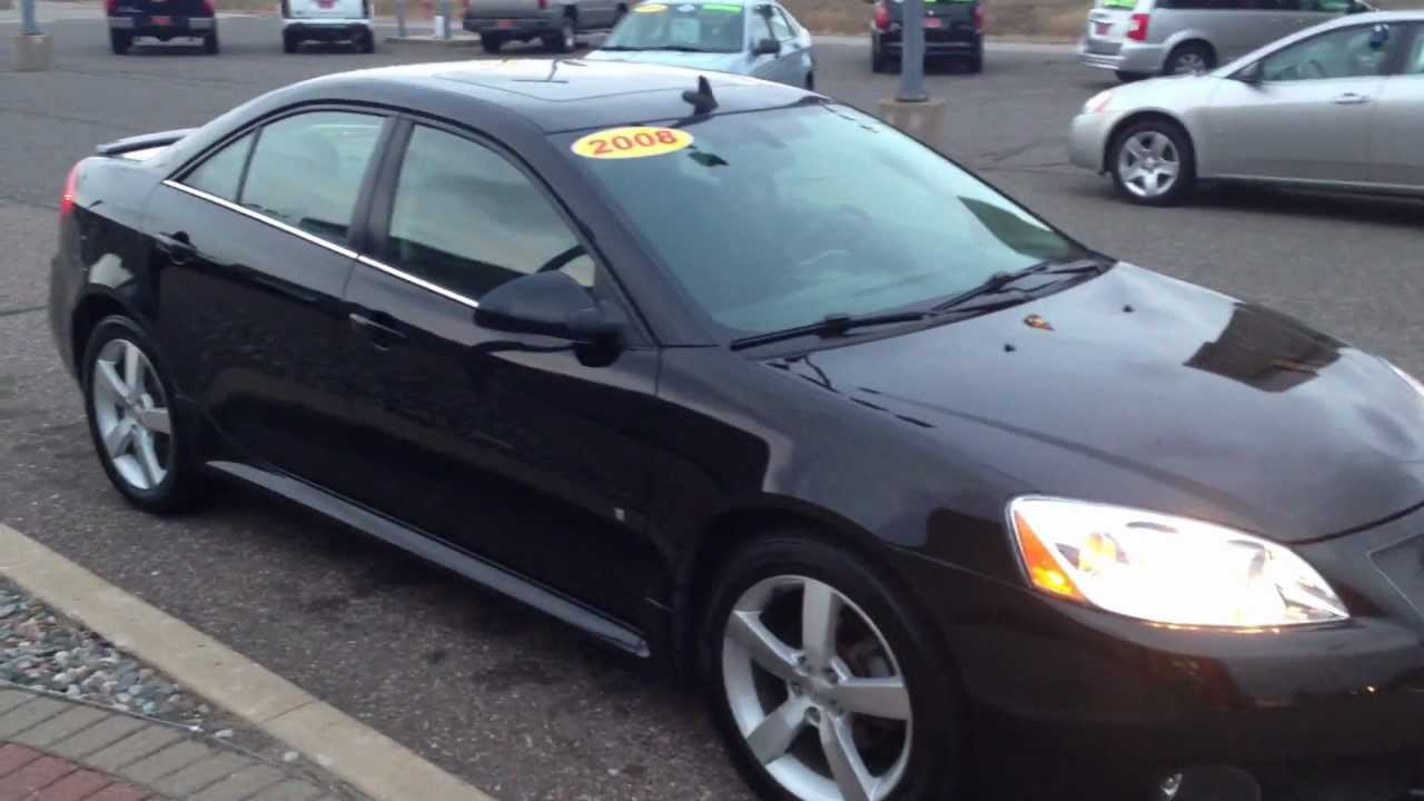 2008 Pontiac G6 Gt Sedan Black Hometown Motors Of Wausau