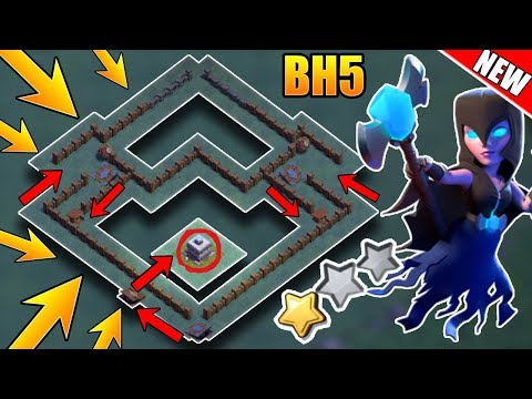 Best Builder Hall 5 (Bh5) Base With Defense Replays   Bh5 Anti 2 Star Base Layout   Clash Of Clans