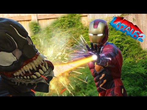 IRONMAN VS VENOM with Spiderman & Deadpool Part 7