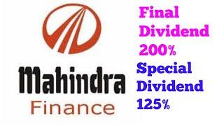 Mahindra and Mahindra Financial services Dividend
