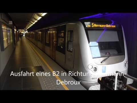 U-Bahn Brüssel am Gare de l'Ouest / Weststation / Westbahnhof