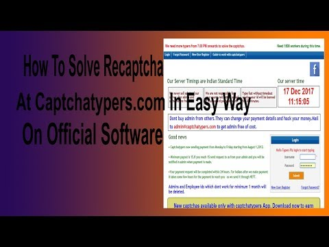 How To Solve Recaptcha At Captchatypers com In Easy Way On Official