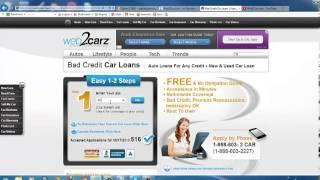 Web2Carz Review - Good Credit & Bad Credit Auto Loans