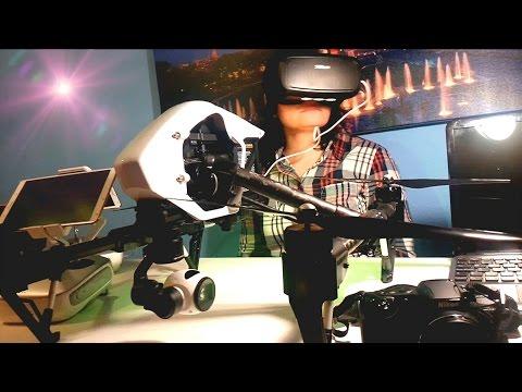 La cámara del Dron sigue tus movimientos Head Tracking with DJI Inspire 1