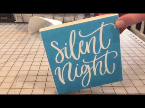 DIY Vinyl Stencil Wood Sign