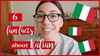 6 fun facts about Italian - 6 curiosità sull'italiano