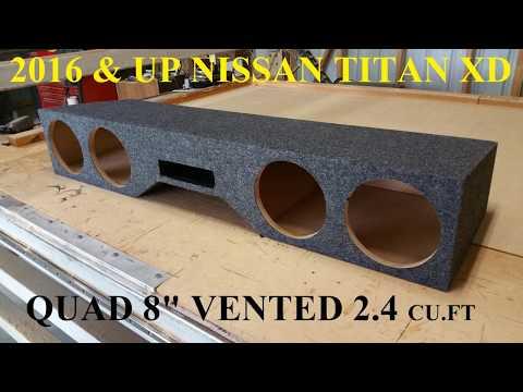 """2016-&-up-nissan-titan-quad-8""""-vented-brand-new-by-soundoffaudio.com"""