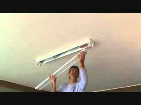 How To Install A Surface Mounted Fluorescent Light Fixture Part 6