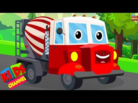 Concrete mixer truck | vehicle songs | original songs for kids