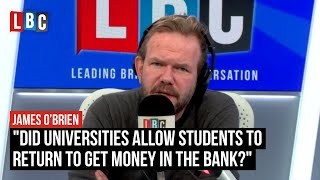 """""""Did universities allow students to return to get money in the bank?"""" 