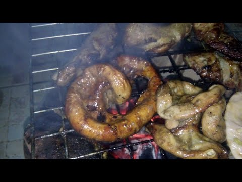 Amazing Food - chitterlings grilled Laos Recipe