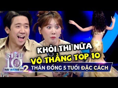 Vừa xuất hiện Thần Đồng Đu Dây 5 Tuổi đã được Trấn Thành, Hari Won đặc cách 'VÔ THẲNG TOP 10'