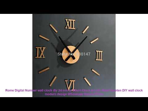 Rome Digital Number wall clock diy 3d mirror Silent Clock Acrylic Brie