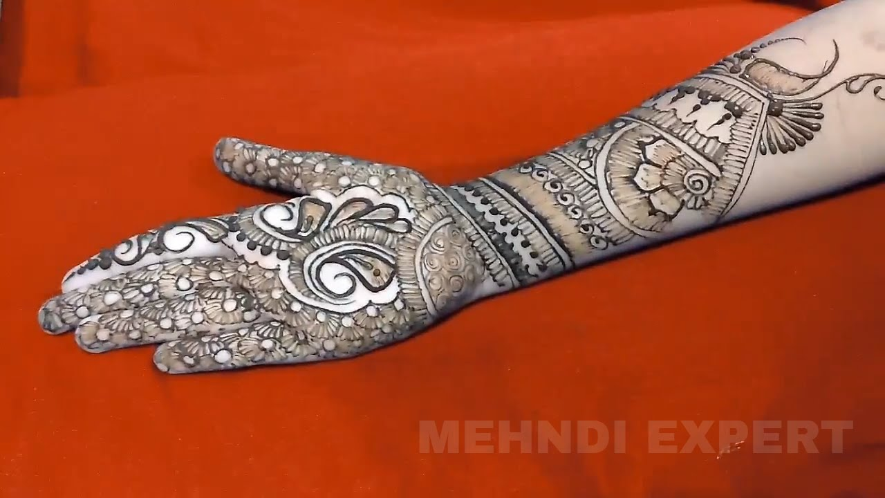 Mehndi Hands With Watch : Full hand bridal dulhan mehndi or henna tutorial ★ step