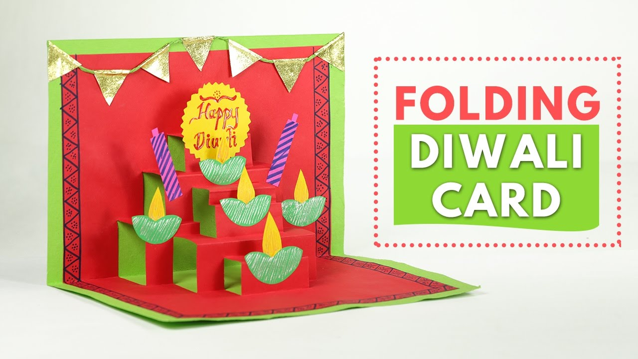 Diwali Greeting Cards: Pop-up Greeting Cards Making - YouTube