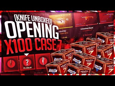 INSANE $1,000 WEAPON CASE 7 UNBOXING!!! (Knife)
