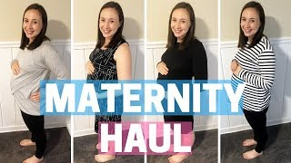 MATERNITY CLOTHES HAUL & TRY ON - Affordable Inexpensive Fall / Winter 2018 Pregnancy