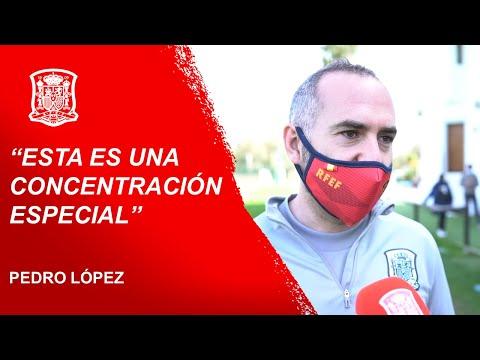 """Pedro López, seleccionador de la Sub-19 femenina: """"Esta es una concentración especial"""""""