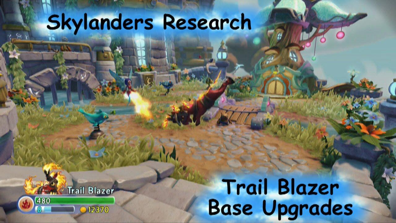 skylanders trap team research trail blazer base upgrades