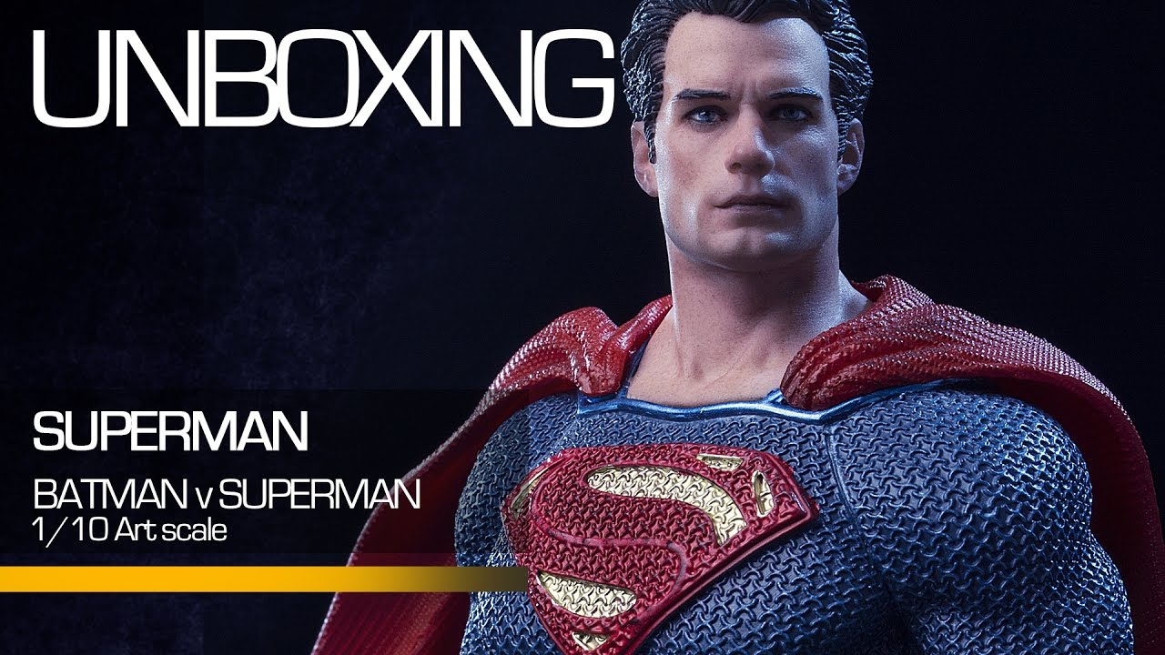 Unboxing - Superman 1 10 Art Scale - Batman V Superman - Iron Studios c919cd68c74