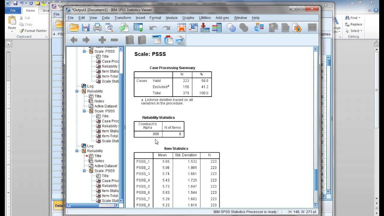 Reliability test is spss?