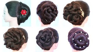6 easy and beautiful hairstyles tricks || party hairstyles || cute hairstyles || juda hairstyles