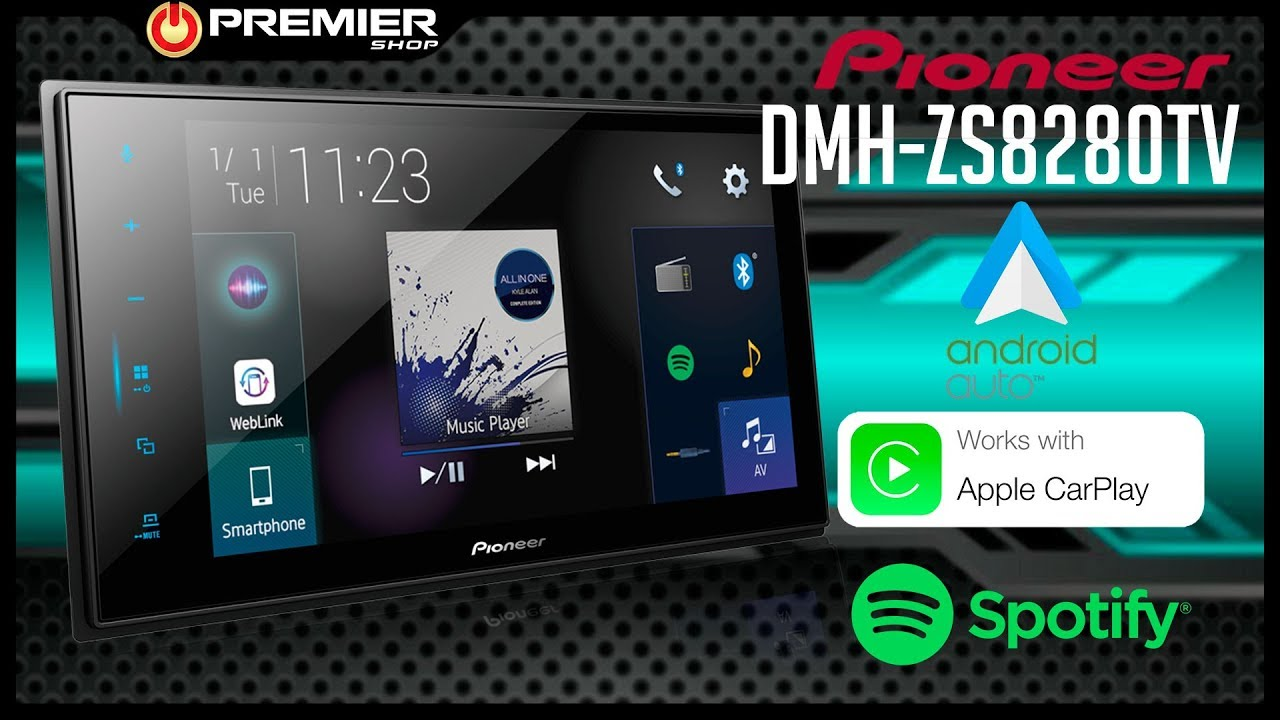 Central Multimídia Pioneer DMH-ZS8280TV - Com Android Auto e Apple Carplay  - [ Premier Shop ]
