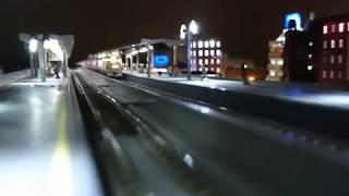 【懐かしい列車】【鉄道模型】【夜景ジオラマ】
