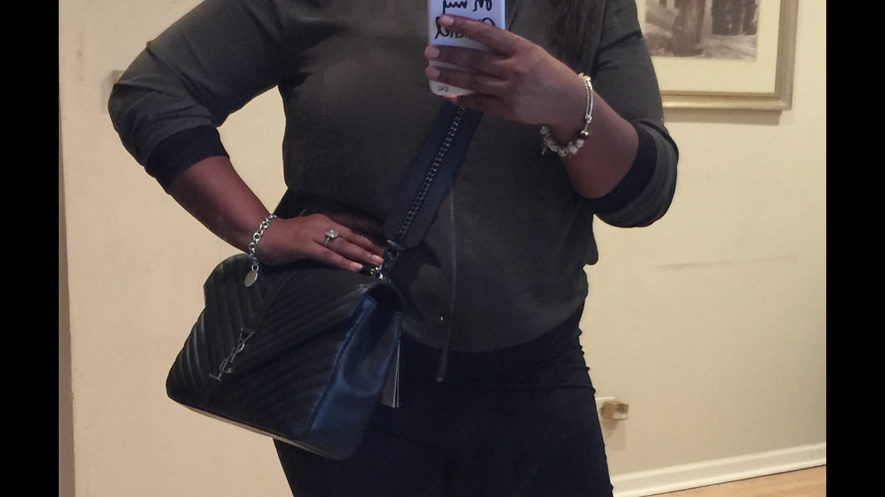 Large YSL College Bag- Perfect Crossbody Strap!! - YouTube e8c21327d6d1a