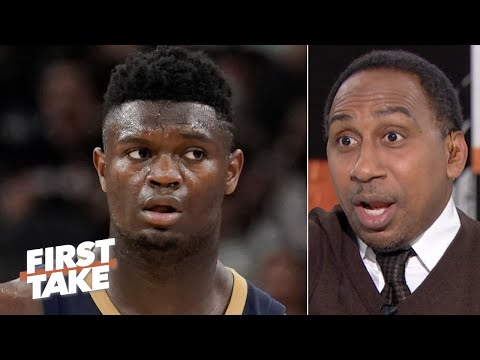 The Pelicans need to be 'ultra protective' of Zion's knee injury - Stephen A. | First Take