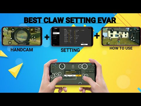 FREE FIRE BEST 4 FINGER CLAW SETTING EVAR