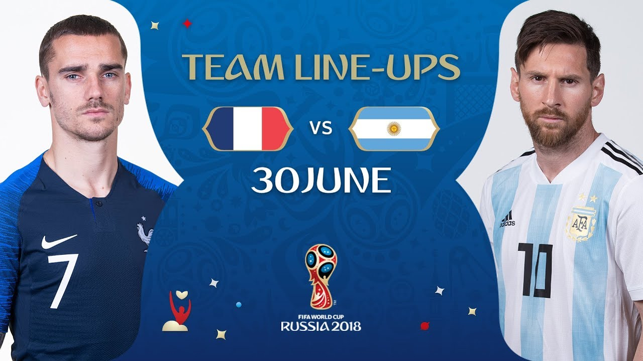7b5f3525c1a LINEUPS – FRANCE v ARGENTINA - MATCH 50   2018 FIFA World Cup™ - YouTube