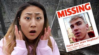 EXPLORING ABANDONED FOREST!! STEPHEN SHARER MISSING😱 thumbnail