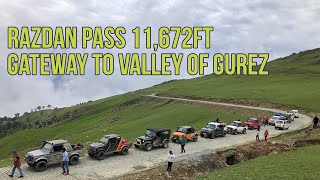 Razdan Pass 11,672ft | Gateway To Gurez | Dangerous Roads | Kashmir Off Road