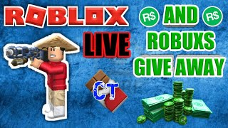 🔴Roblox Live #125🔴MAYBE A ROBUXS GIVE AWAY AT THE END
