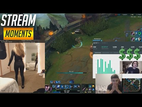 DON'T LOOK AT MY BUTT! IWILLDOMINATE SHOWS HIS DONATIONS! WOMBO COMBO | Funny LoL Stream Moments #16
