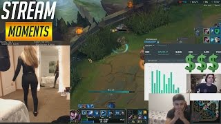 DON'T LOOK AT MY BUTT! IWILLDOMINATE SHOWS HIS DONATIONS! WOMBO COMBO   Funny LoL Stream Moments #16