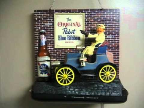 pbr pabst blue ribbon car sign youtube. Black Bedroom Furniture Sets. Home Design Ideas