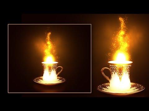 Световой эффект в Фотошоп. Создаем магическую чашку/ Photoshop CS6-СС2015.5