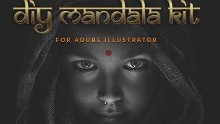 Easy Peasy DIY Mandala Kit for Adobe Illustrator