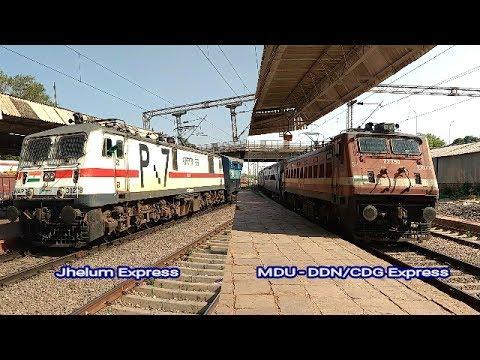 Jhelum Express preceding Madurai - Dehradun/Chandigarh Express || Birlanagar GWL || Indian Railways
