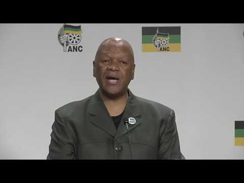 Jeff Radebe at Luthuli House Media Briefing2