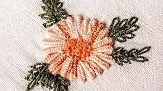 Hand Embroidery Designs | Double cast on stitch | HandiWorks #31